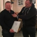 Michael Zaun von SV Arnsberg 09 Ehrenmitglied und mit der Verdienstnadel des Verbandes in Silber ausgezeichnet