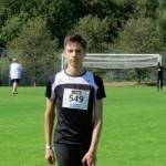 Eric Irmler startete bei Deutschen Leichtathletik-Jugendmeisterschaften in  Wattenscheid