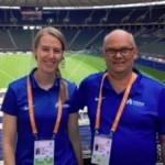 Sandra Schulz und Volker Buchmann bei der Leichtathletik-EM in Berlin