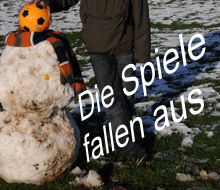 Foto: Jochem Emde Fußball : Spielabsagen wegen widrigen Wetterverhältnissen